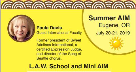 REGISTRATION NOW OPEN - Summer AIM w/Paula Davis