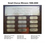 Small Chorus Winners